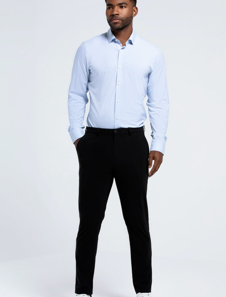 The Triton Pant State Of Matter color Black made with ECONYLu00ae regenerated nylon lifestyle