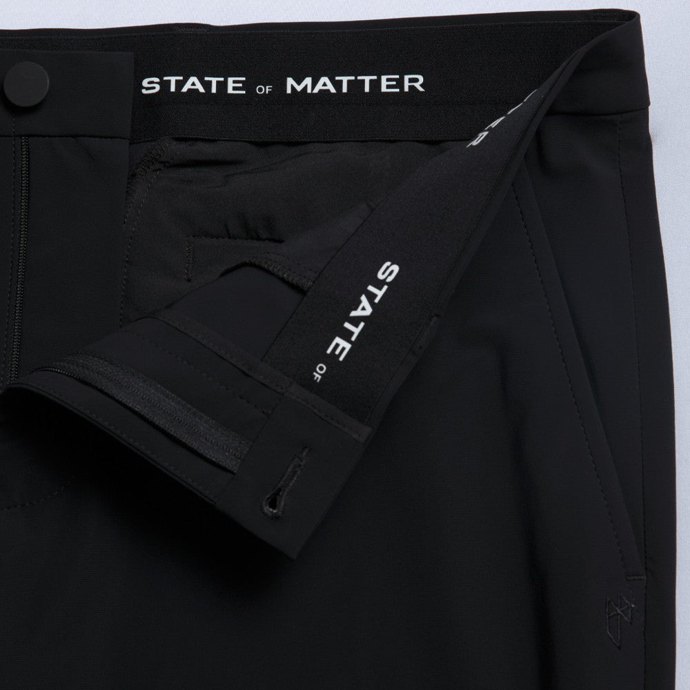 Detail of The Triton Pant State Of Matter color Black made with ECONYLu00ae regenerated nylon