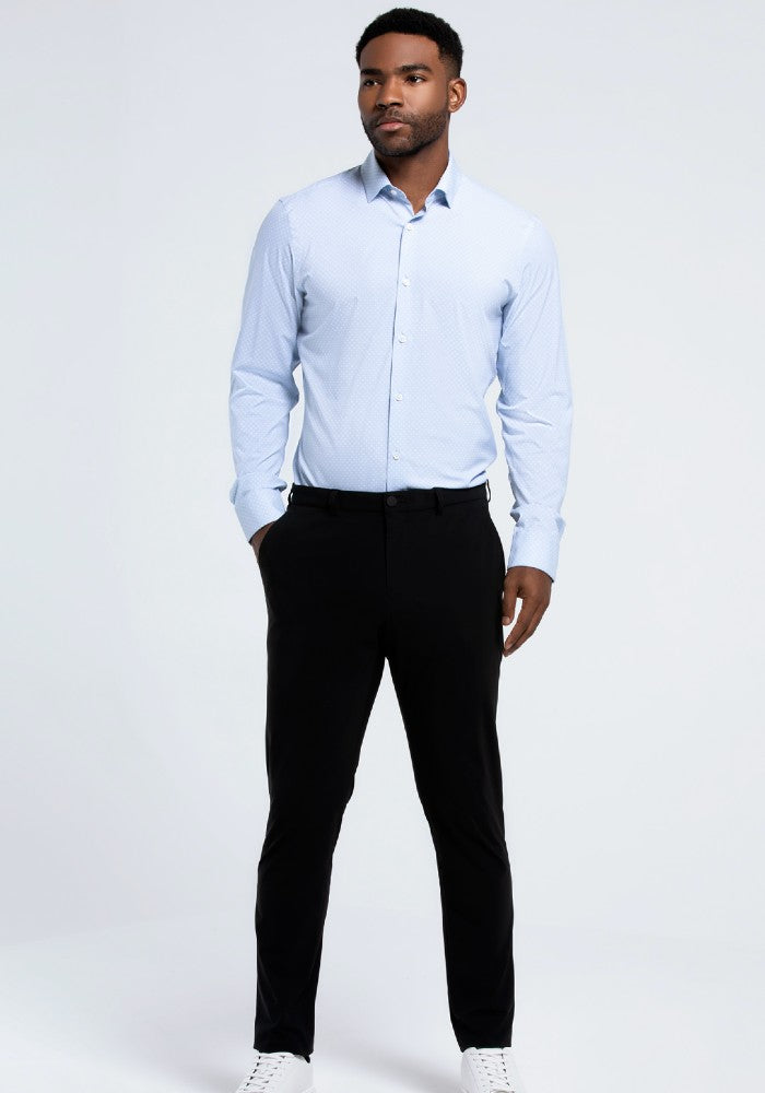 The Triton Pant State Of Matter color Black made with ECONYLu00ae regenerated nylon