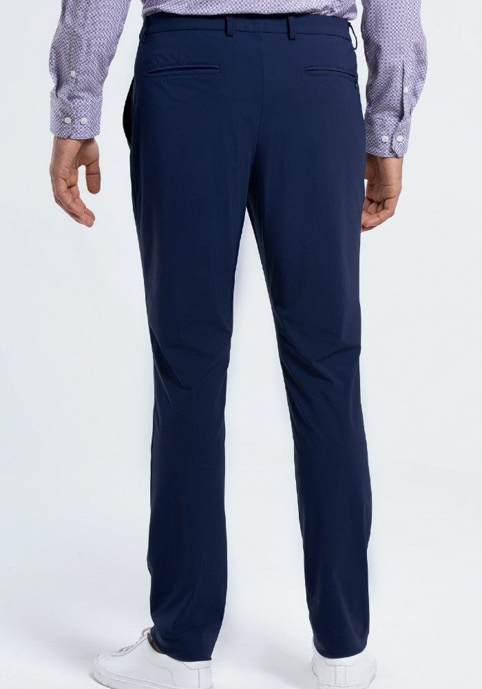 Back view of The Triton Pant State Of Matter color Blue made with ECONYLu00ae regenerated nylon