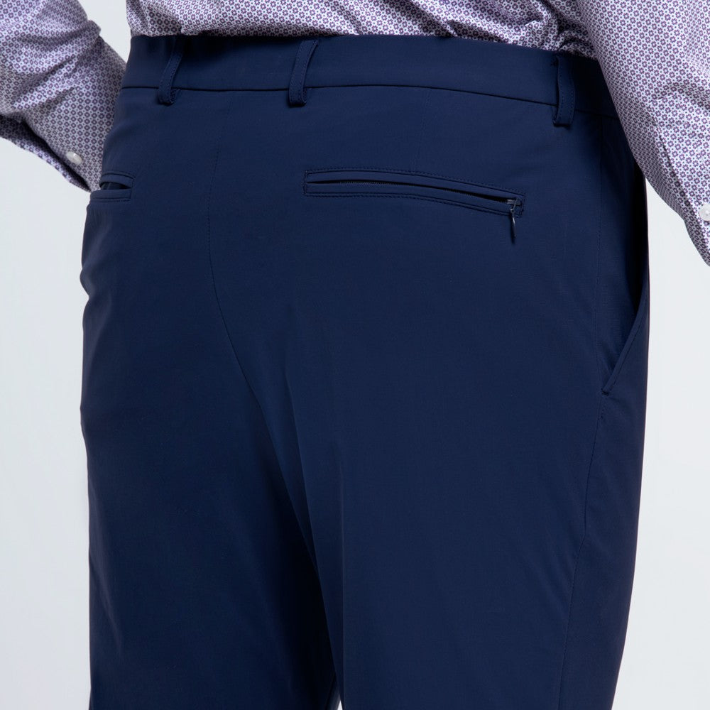Detail of The Triton Pant State Of Matter color Blue made with ECONYLu00ae regenerated nylon