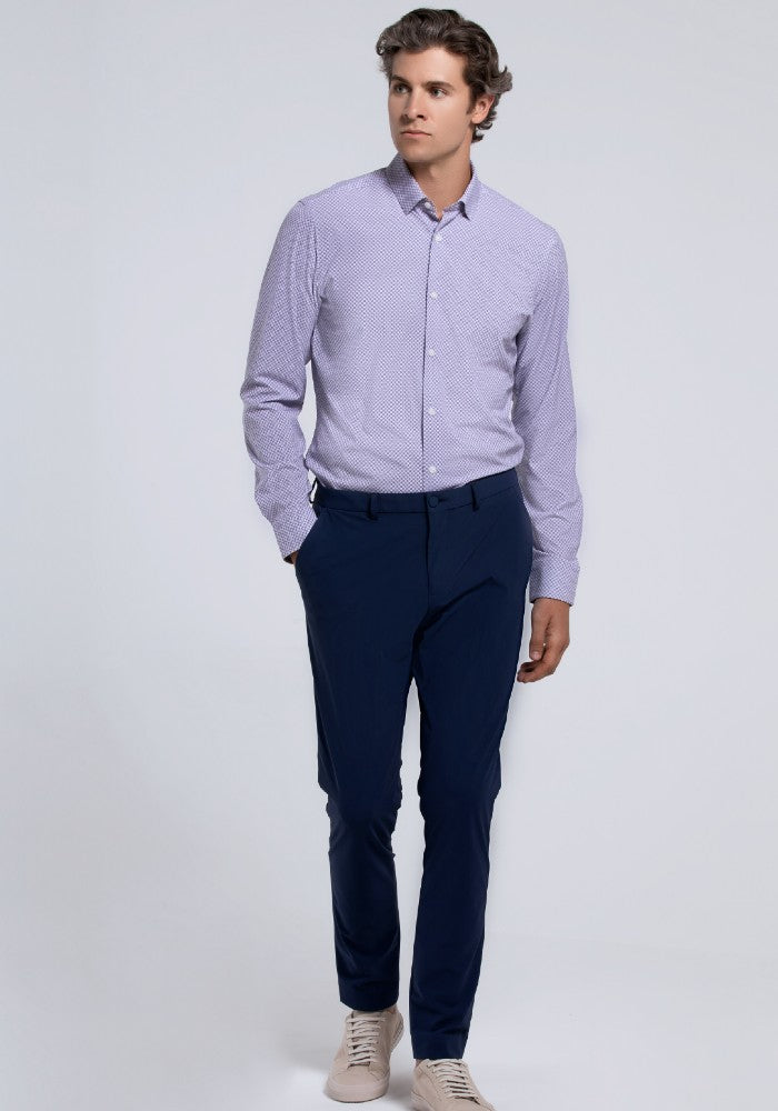 The Triton Pant State Of Matter color Blue made with ECONYLu00ae regenerated nylon