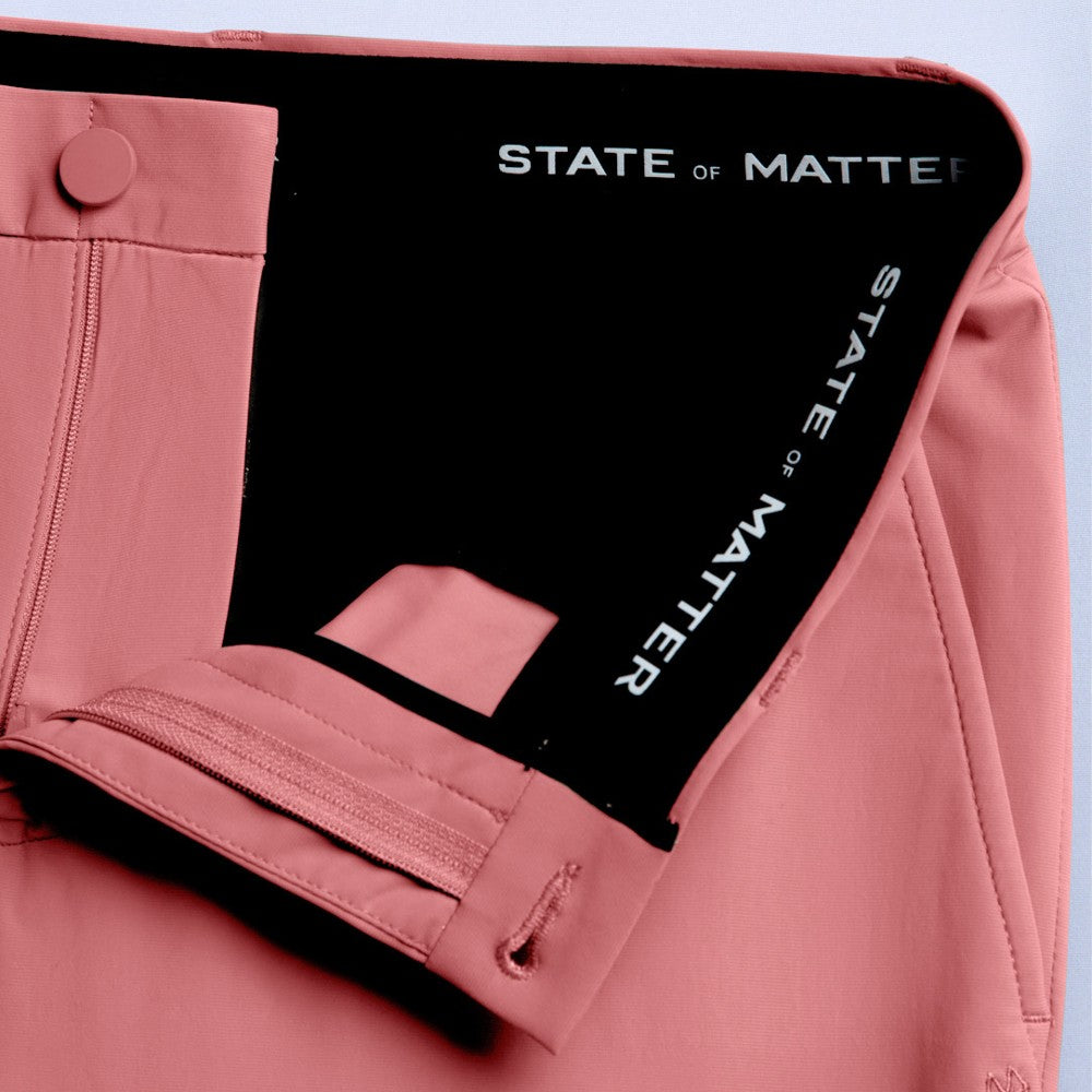Detail of The Triton Pant State Of Matter color Canyon Rose made with ECONYLu00ae regenerated nylon