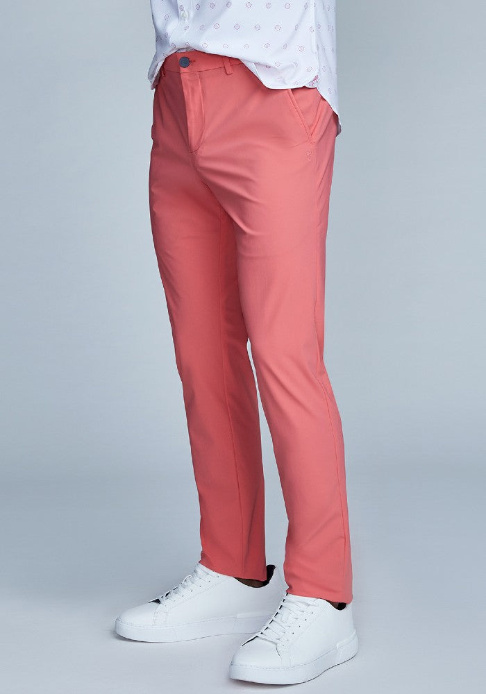 Side view of The Triton Pant State Of Matter color Canyon Rose made with ECONYLu00ae regenerated nylon