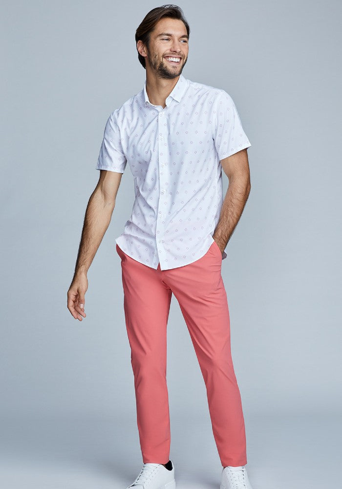 The Triton Pant State Of Matter color Canyon Rose made with ECONYLu00ae regenerated nylon