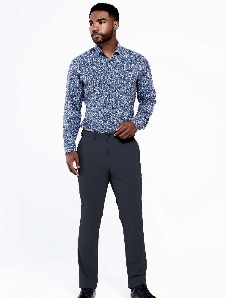 The Triton Pant State Of Matter color Charcoal made with ECONYLu00ae regenerated nylon lifestyle