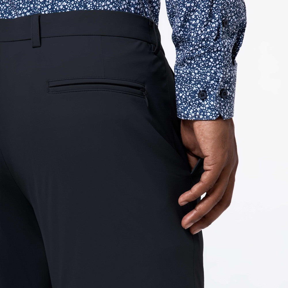 Detail of The Triton Pant State Of Matter color Charcoal made with ECONYLu00ae regenerated nylon