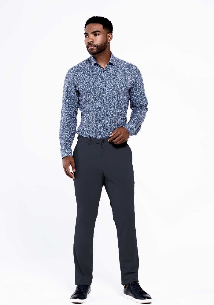 The Triton Pant State Of Matter color Charcoal made with ECONYLu00ae regenerated nylon