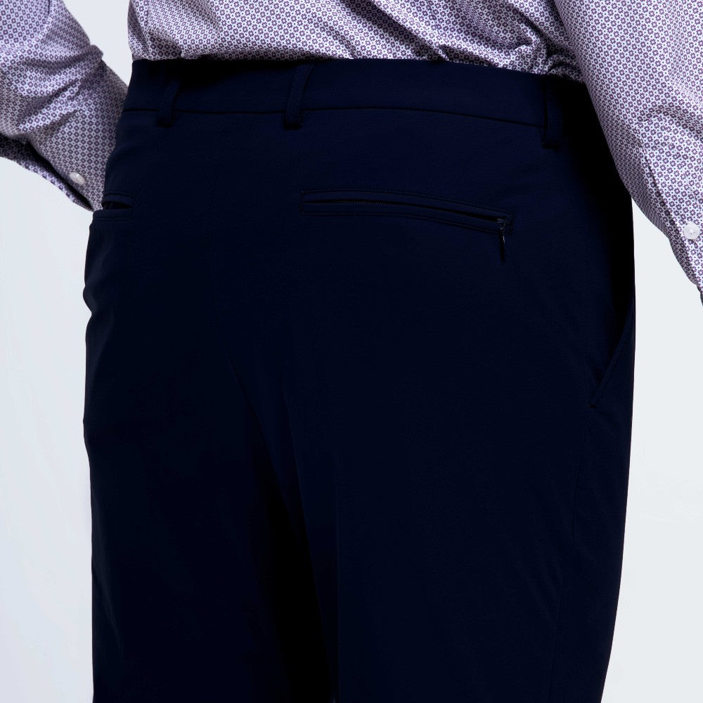 Detail of The Triton Pant State Of Matter color Deep Navy made with ECONYLu00ae regenerated nylon