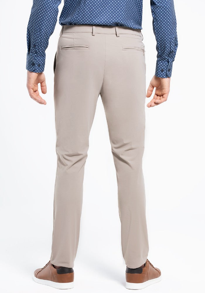 Back view of The Triton Pant State Of Matter color Sand made with ECONYLu00ae regenerated nylon