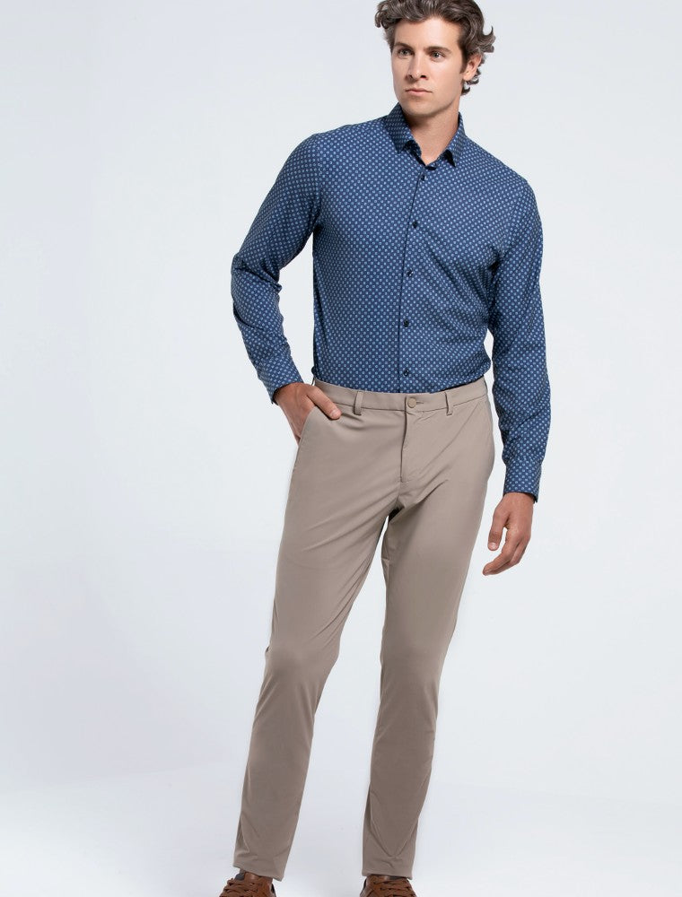 The Triton Pant State Of Matter color Sand made with ECONYLu00ae regenerated nylon lifestyle