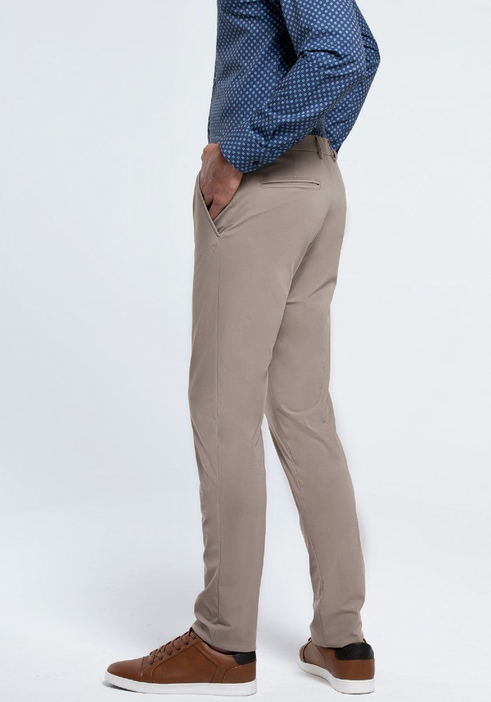 Side view of The Triton Pant State Of Matter color Sand made with ECONYLu00ae regenerated nylon