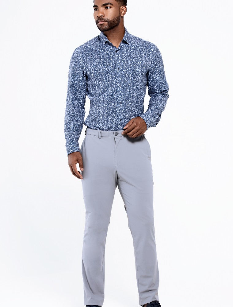 The Triton Pant State Of Matter color Silver made with ECONYLu00ae regenerated nylon