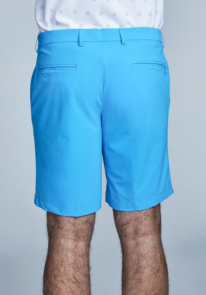 Back view of The Triton Short Pant State Of Matter color Aqua made with ECONYLu00ae regenerated nylon