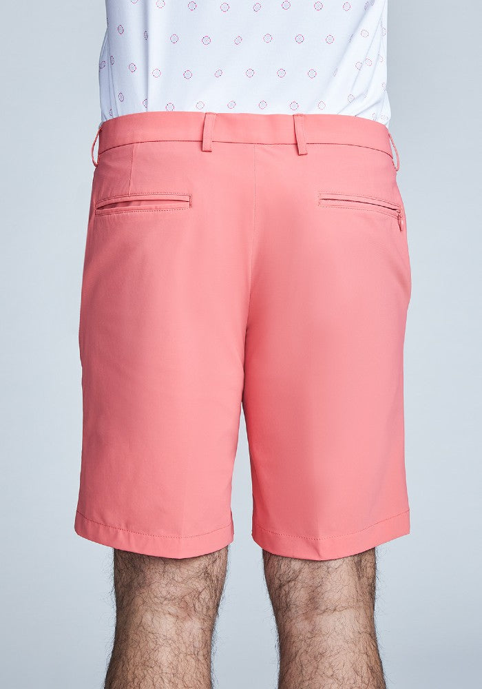 Back view of The Triton Short Pant State Of Matter color Canyon Rose made with ECONYLu00ae regenerated nylon