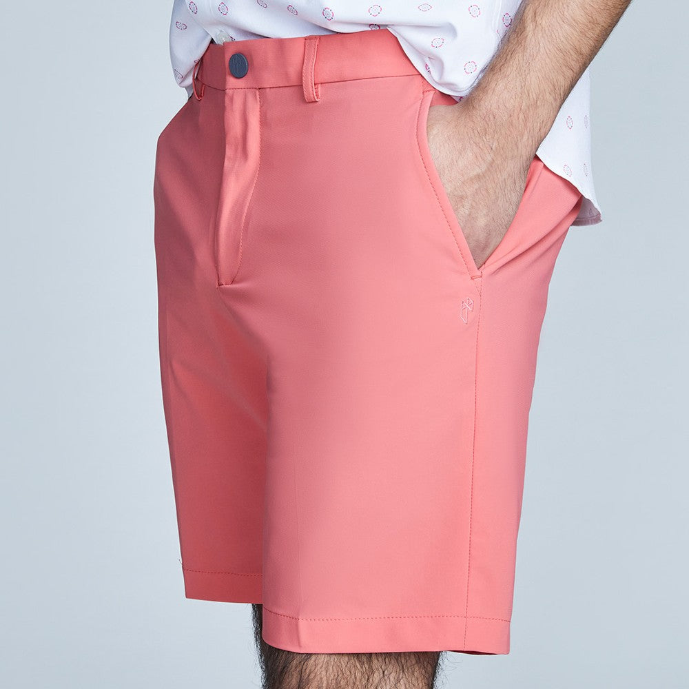 Side view of The Triton Short Pant State Of Matter color Canyon Rose made with ECONYLu00ae regenerated nylon