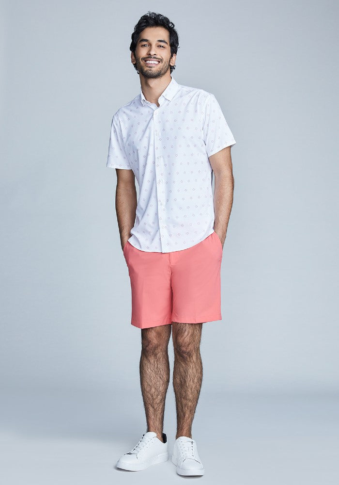 The Triton Short Pant State Of Matter color Canyon Rose made with ECONYLu00ae regenerated nylon