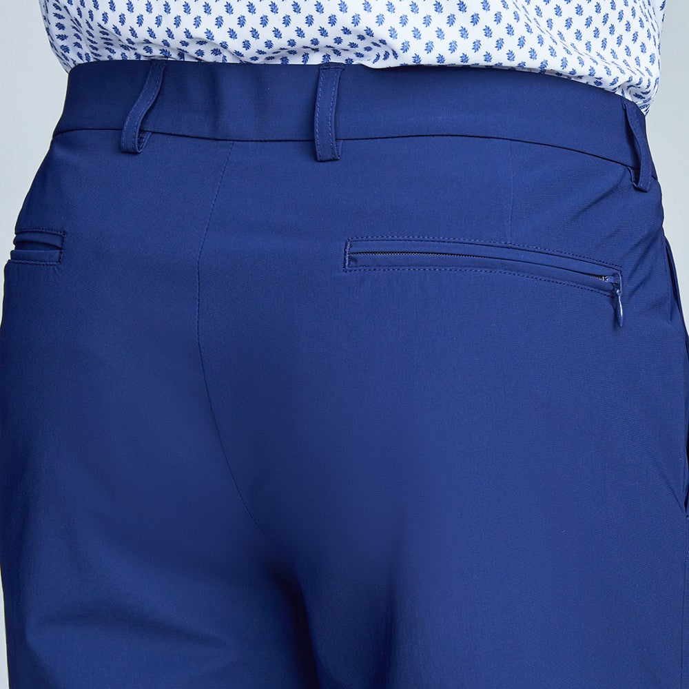 Detail of The Triton Short Pant State Of Matter color Deep Navy made with ECONYLu00ae regenerated nylon