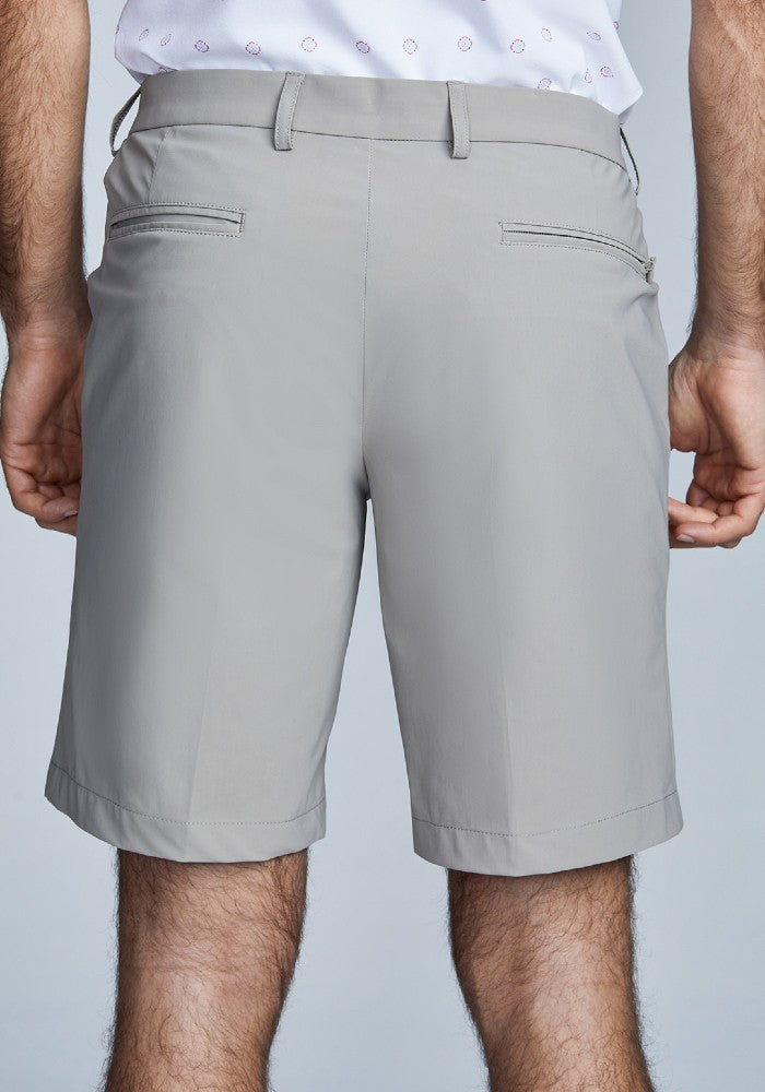 Back view of The Triton Short Pant State Of Matter color Sand made with ECONYLu00ae regenerated nylon
