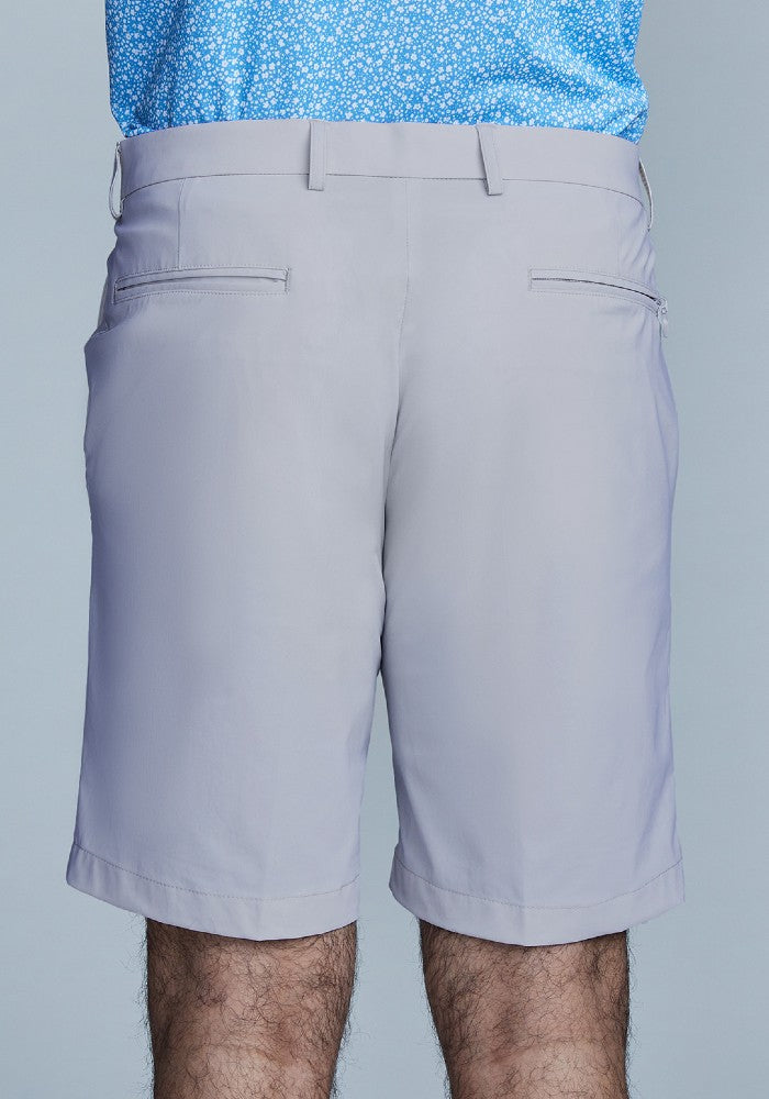 Back view of The Triton Short Pant State Of Matter color Silver made with ECONYLu00ae regenerated nylon