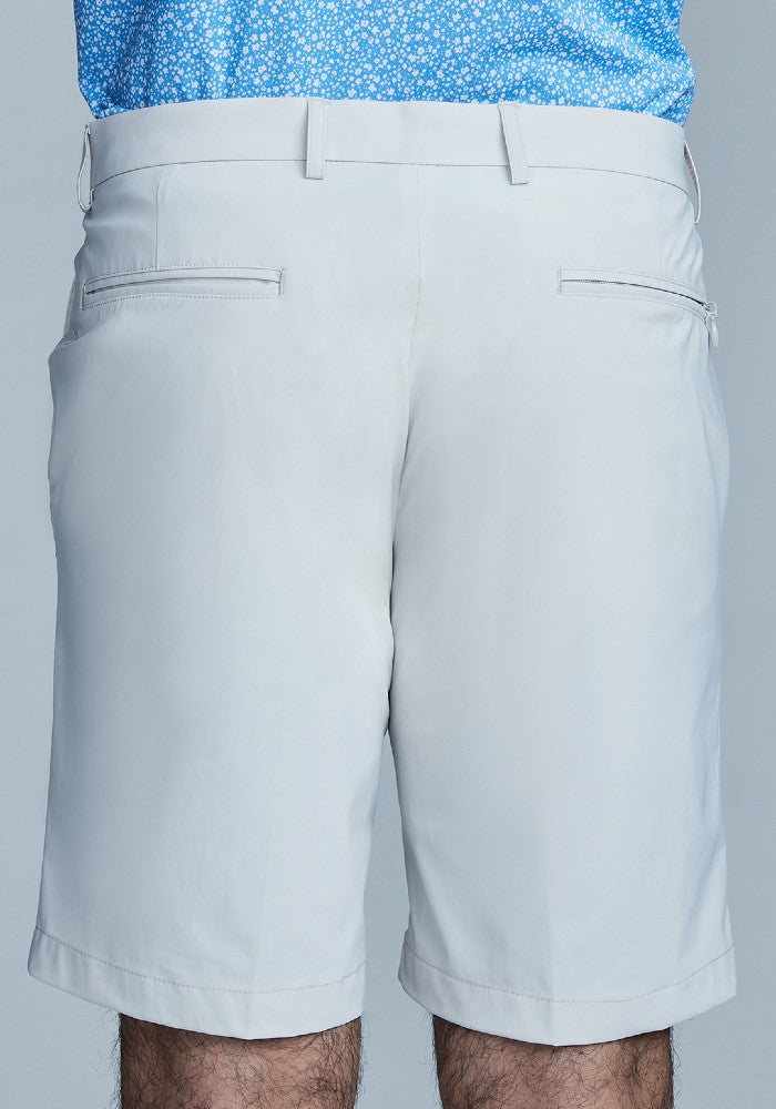 Back view of The Triton Short Pant State Of Matter color Stone made with ECONYLu00ae regenerated nylon