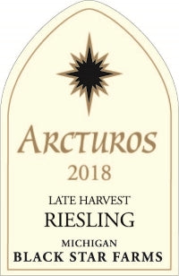 2018 Black Star Farms 'Arcturos' Late Harvest Riesling, Michigan, USA (750ml)