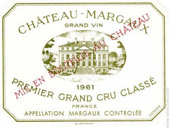 1961 Chateau Margaux, Margaux, France (750ml)