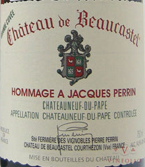 2009 Perrin & Fils Chateau de Beaucastel Chateauneuf-du-Pape Grand Cuvee Hommage a Jacques Perrin, Rhone, France (1.5L Magnum))