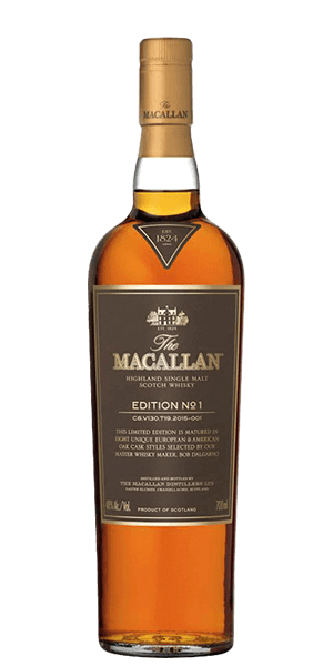 The Macallan Edition No. 1 Single Malt Scotch Whisky, Speyside - Highlands, Scotland (750ml)
