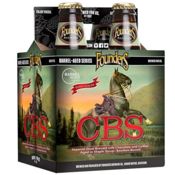 4pk-2019 Founders Brewing Co. CBS - Canadian Breakfast Stout Beer, Michigan, USA (12oz)