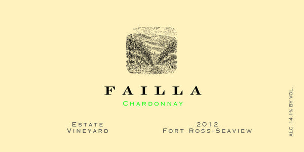 2012 Failla Estate Vineyard Chardonnay, Fort Ross-Seaview, USA (750ml)