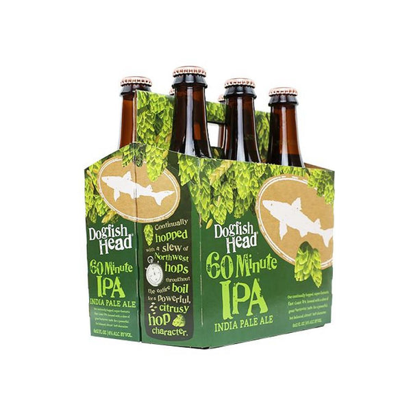 6pk-Dogfish Head 60 Minute India Pale Ale Beer, Delaware, USA (12oz)