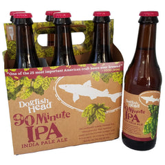 6pk-Dogfish Head 90 Minute Imperial India Pale Ale Beer, Delaware, USA (12oz)