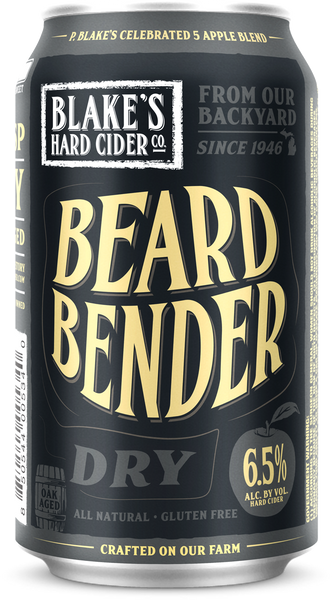 "(6pk cans)-Blake's ""Beard Bender"" Oak Aged Dry Hard Cider, Michigan, USA (12oz)"