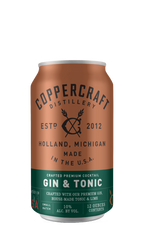 Coppercraft Distillery 'Gin & Tonic,' Michigan, USA (6 x 4pk case, 12fl oz)