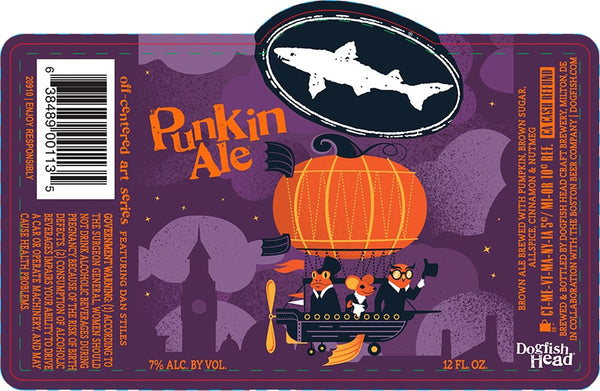 6pk-2020 Dogfish Head Punkin Ale Beer, Delaware, USA (12oz)