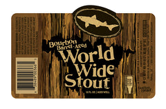 4pk-2019 Dogfish Head Bourbon Barrel Aged World Wide Stout Beer, Delaware, USA (12oz)