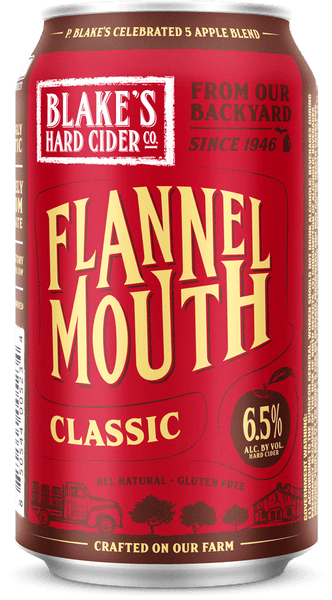 "(6pk cans)-Blake's ""Flannel Mouth"" Classic Hard Cider, Michigan, USA (12oz)"