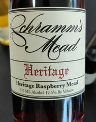Schramm's Heritage Raspberry Mead, Michigan, USA (375ml) HALF BOTTLE