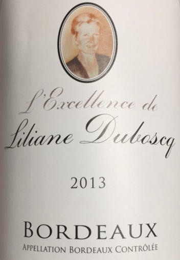2013 L'Excellence de Liliane Duboscq Bordeaux Blanc, France (750ml)