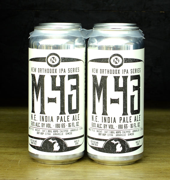 4pk-Old Nation M-43 New England India Pale Ale Beer, Michigan, USA (16 oz)
