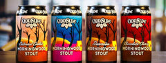 (4pk cans)-Oddside Ales Bourbon Barrel Aged Morningwood Stout Variety Pack Beer, Michigan, USA (12oz)