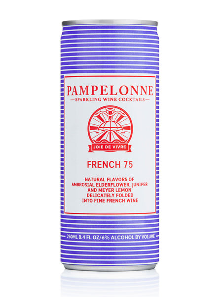 Pampelonne French 75 Sparkling, Loire, France (case, 6 x 4pk cans)