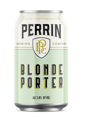 (24pk cans)-Perrin Blonde Porter Beer, Michigan, USA (12oz)