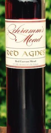 Schramm's Red Agnes Red Currant Mead, Michigan, USA (375ml) HALF BOTTLE