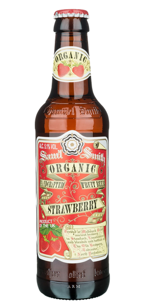 4pk-Samuel Smith's Organic Strawberry Fruit Ale Beer, England (330ml)