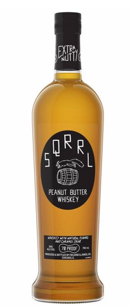 Sqrrl Peanut Butter Whiskey, Illinois, USA (750ml)
