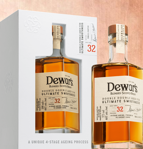 Dewar's Double Double 32 Year Old Blended Scotch Whisky, Scotland (375ml)