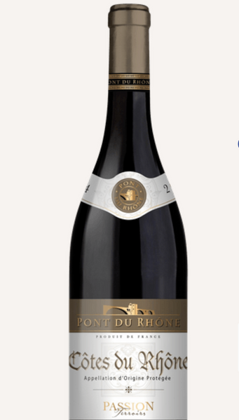 2019 Passion Terroirs Pont du Rhone, Cotes du Rhone, France (750ml)