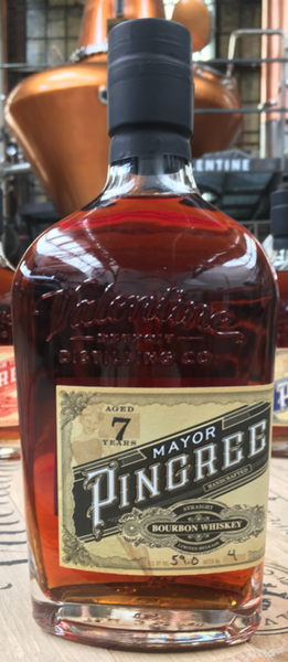 Valentine Distilling Mayor Pingree Black Label 7 Year Handcrafted Straight Bourbon Whiskey, Michigan, USA (750ml)